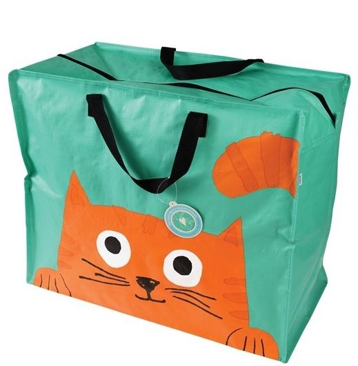Chester the Cat large storage / laundry bag