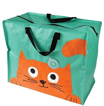 Chester the Cat large laundry and storage bag