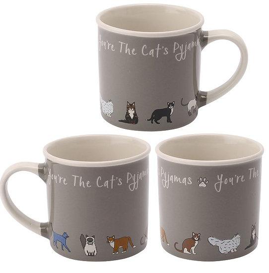 Paws for Thought 'Cats Pyjamas' stoneware mug