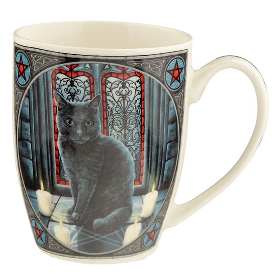 Lisa Parker Sacred Circle Cat porcelain mug