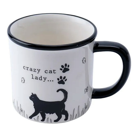 Crazy cat lady stoneware mug