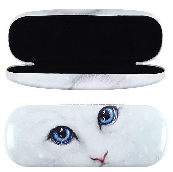 Linda Jones 'Winter cat' designed glasses case