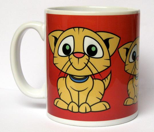 'One cat short of crazy' mug