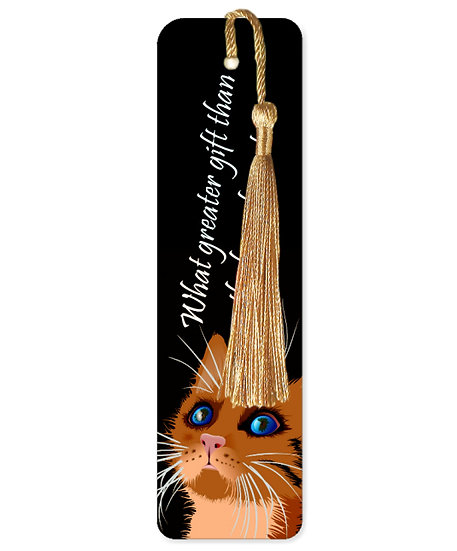 The love of a cat bookmark with tassel