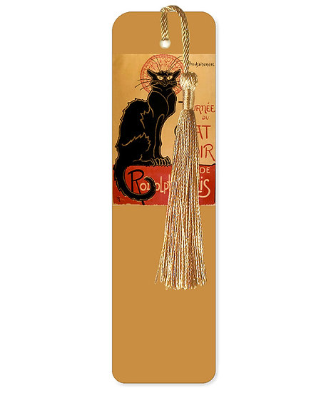 The Chat Noir bookmark with tassel