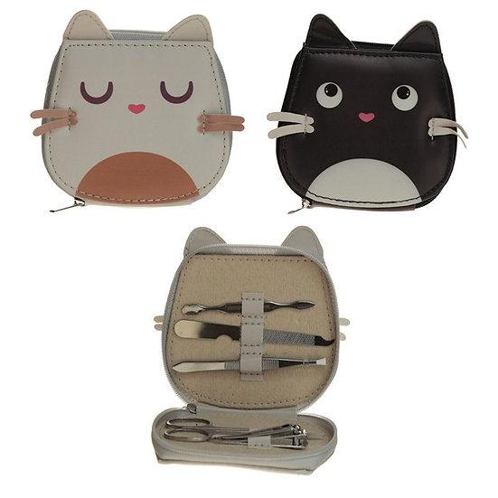 Feline Fine cat shaped manicure set