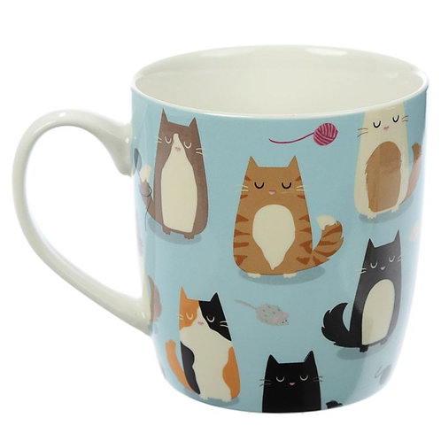 Feline Fine porcelain cat mug