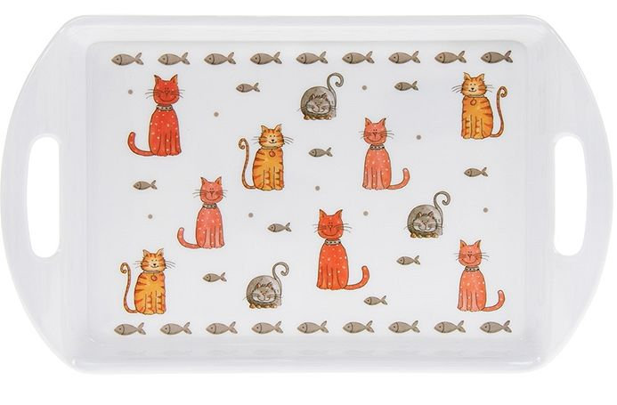 Cat design small serving tray