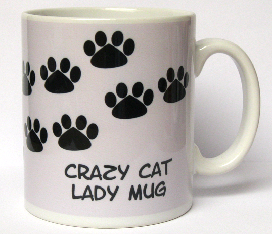 Lilac background 'Crazy Cat Lady' mug
