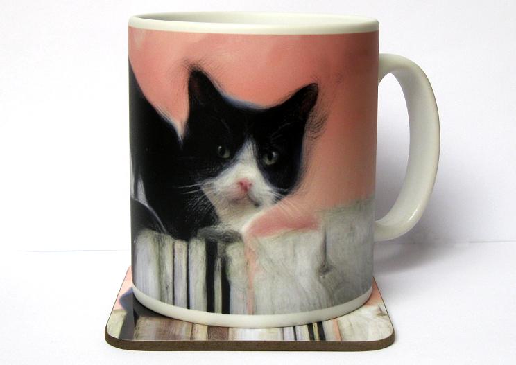 Blackie mug and optional coaster