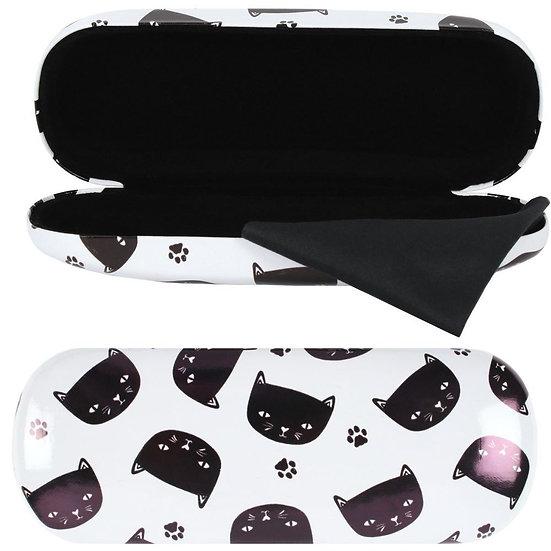 Black cat glasses case