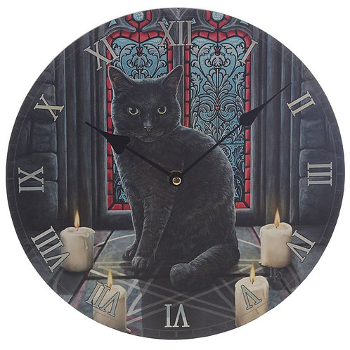 Lisa Parker 'Sacred Circle' cat picture clock