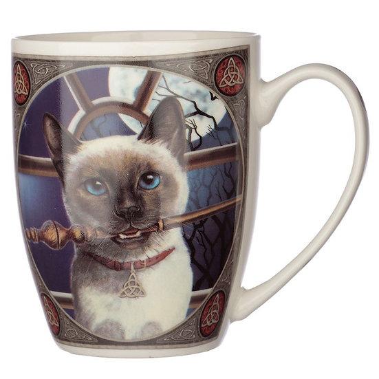 Lisa Parker Hocus Pocus Cat porcelain mug