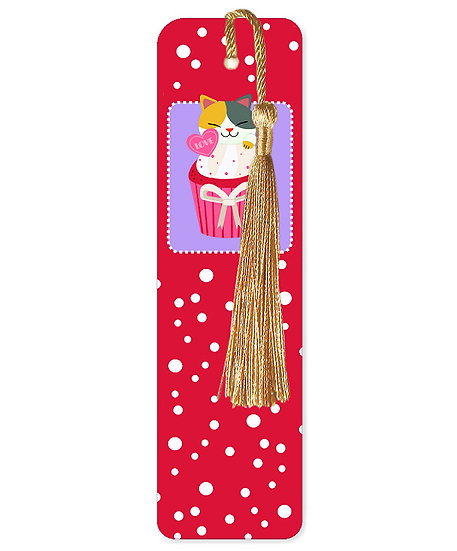 The cupcake cats bookmark with tassel