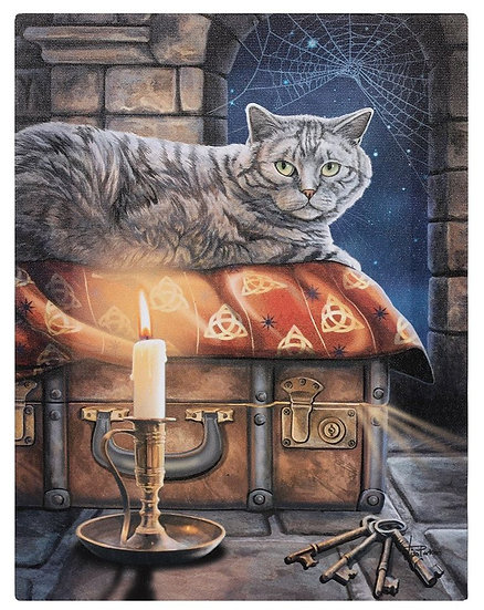 Lisa Parker 'The Keeper of the Secrets' cat canvas wall plaque