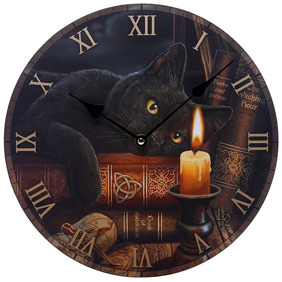 Lisa Parker 'Witching Hour' cat picture clock