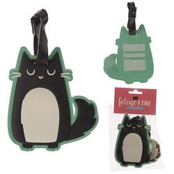 Feline Fine luggage tags