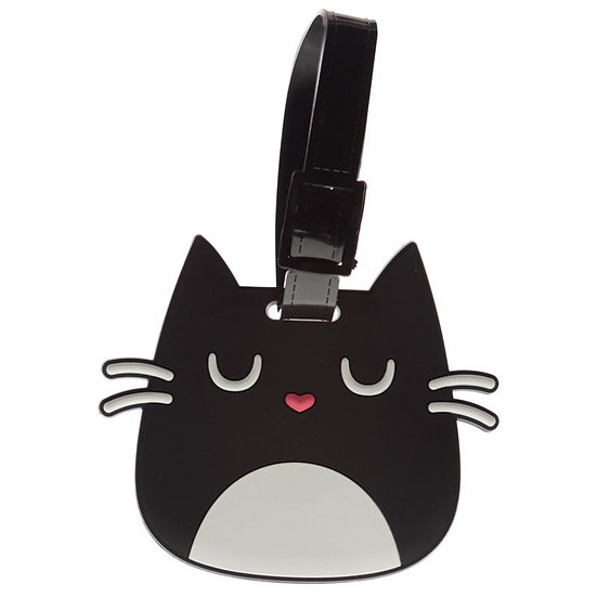 Feline Fine Cat luggage tag