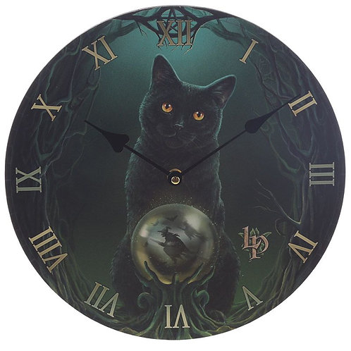 Lisa Parker 'Rise of the witches' cat picture clock