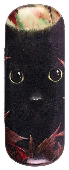 Linda Jones 'Autumn cat' designed glasses case