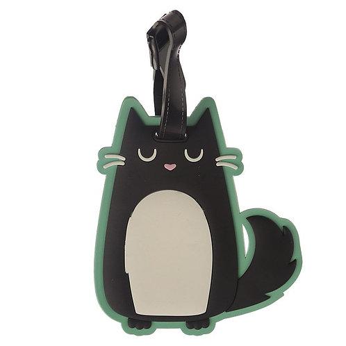 Feline Fine Cat luggage tag