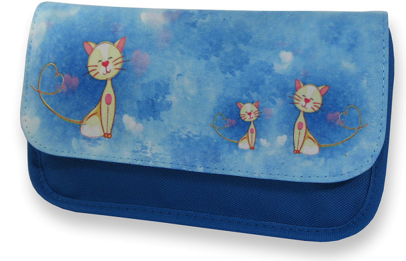 Love cats make up bag / pencil case