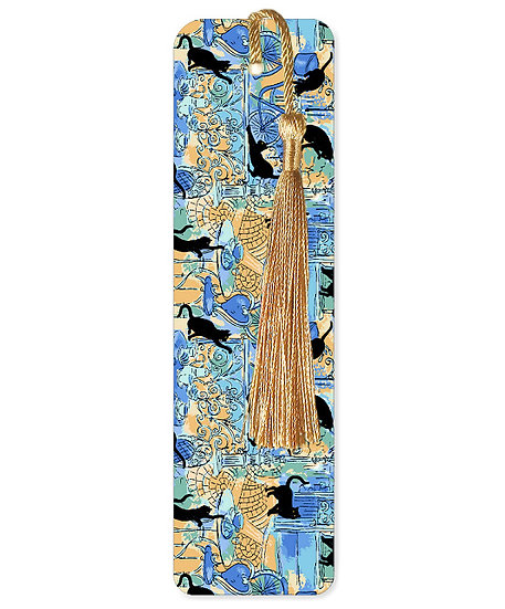 Cafe cats bookmark with tassel