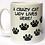 Thumbnail: Grey background 'Crazy Cat Lady' mug