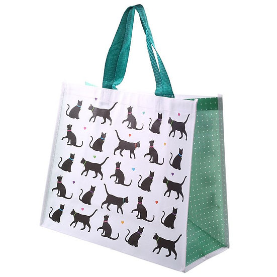 I Love My Cat design shopping bag