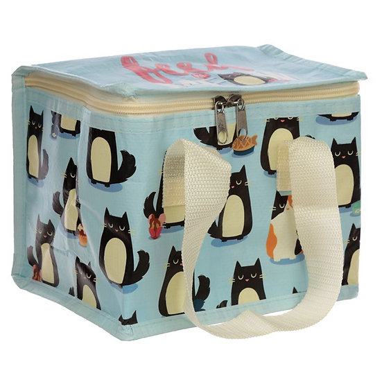 Feline Fine insulated cool bag / lunch box
