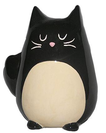 Ceramic black cat money box