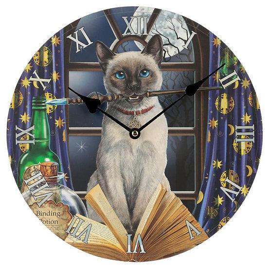 Lisa Parker 'Hocus Pocus' cat picture clock