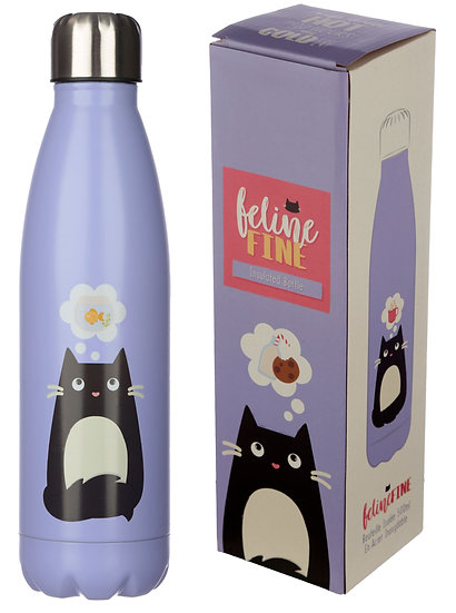 Feline Fine insulated drinks bottle