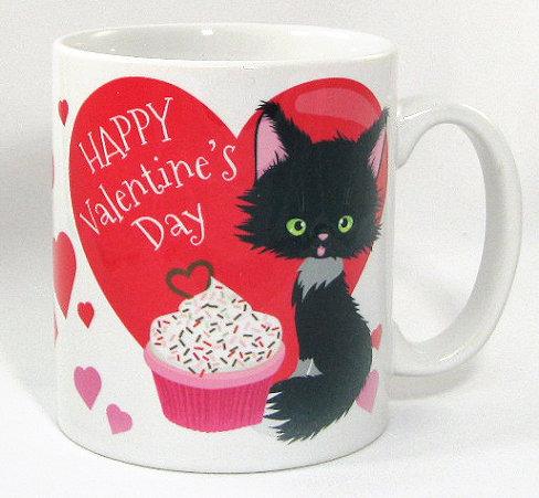 Be My Valentine cat mug