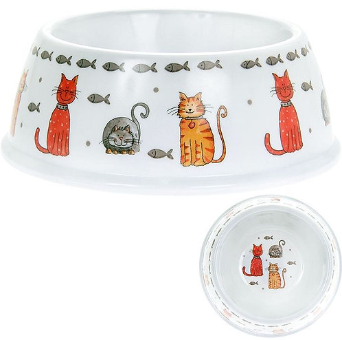 Cat design food and water bowl