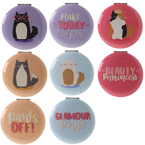 Feline Fine compacts in four different designs
