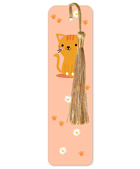 Daisy cat bookmark with tassel