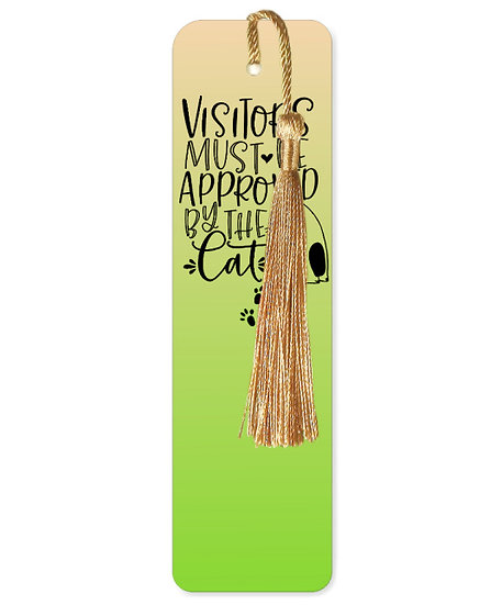 Visitors must be approved by the cat bookmark with tassel