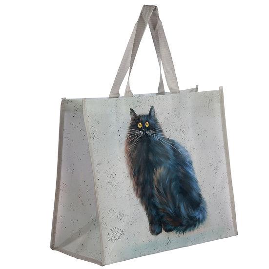 Kim Haskins black cat shopping bag