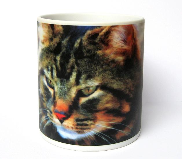 'Tiger' cat white mug