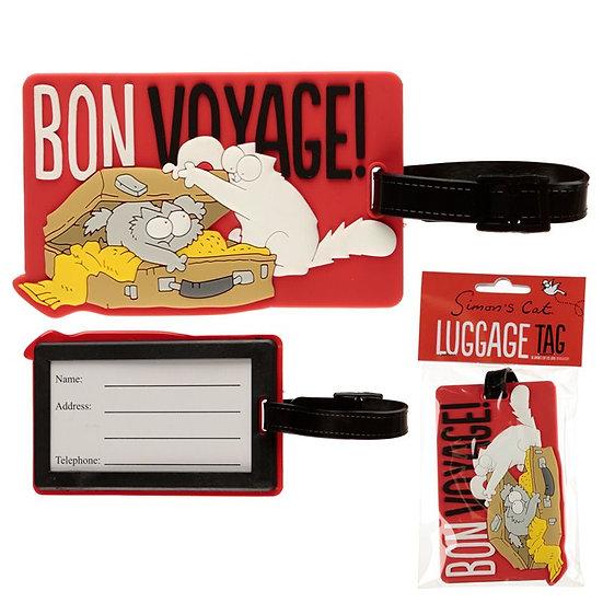 Simon's Cat Bon Voyage! luggage tag
