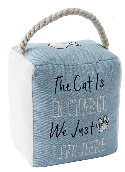 Paws for Thought 'The cat is in charge' door stop
