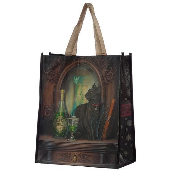 Lisa Parker Absinthe Cat shopping bag