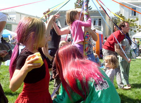 Dancing the Maypole!