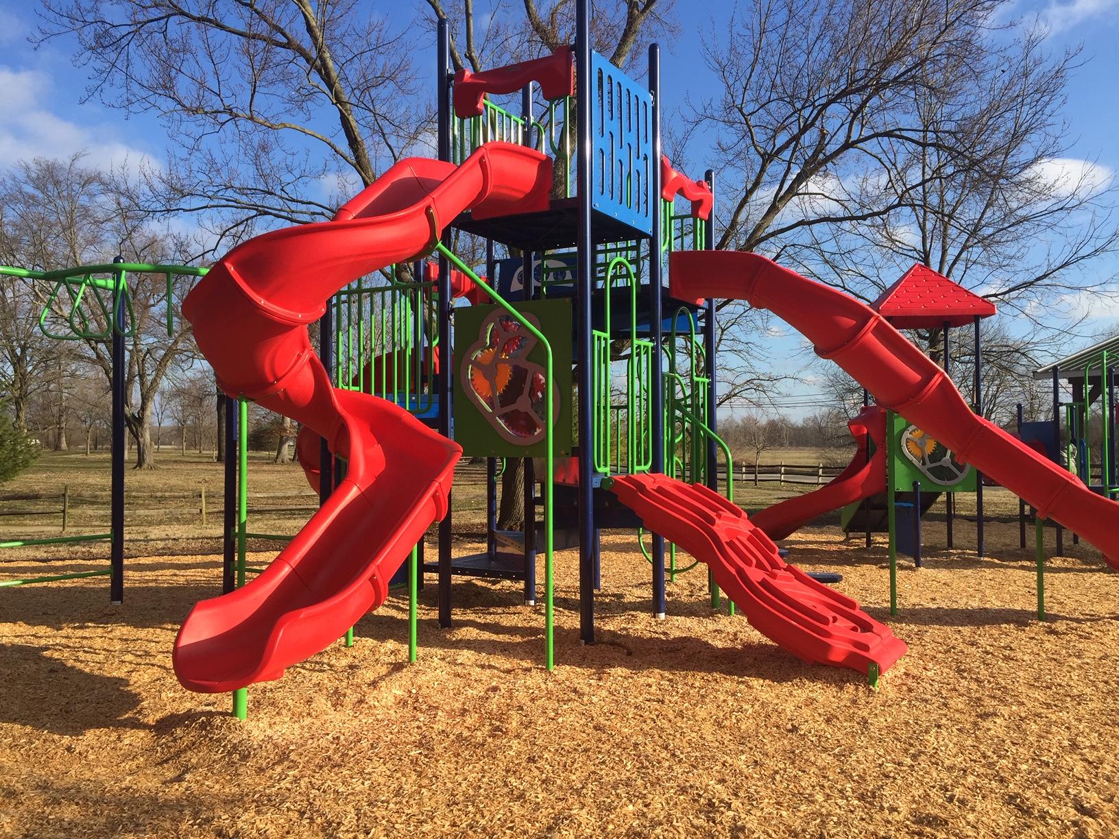 Playground slides large