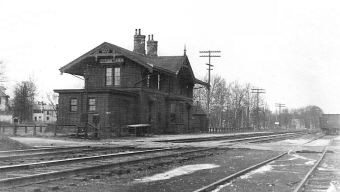 Historical photo of Hartwell, Ohio Hartwell Depot Train Station