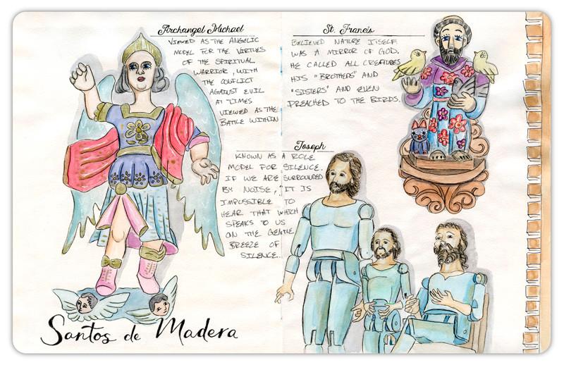Saints of Guatemala travel journal page