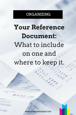Making a Reference Document