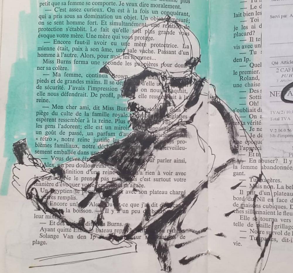 sketch in a book