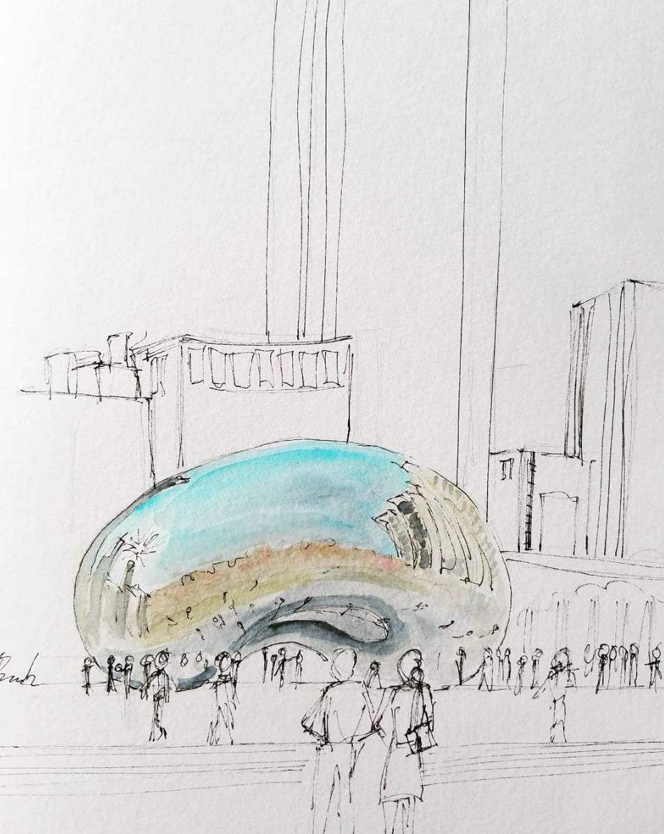 Jeb Brack's sketch of The Bean